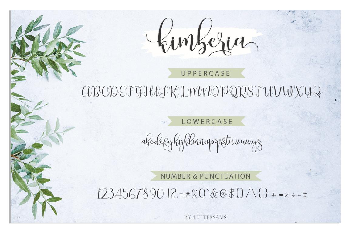 Kimberia Script example image 9