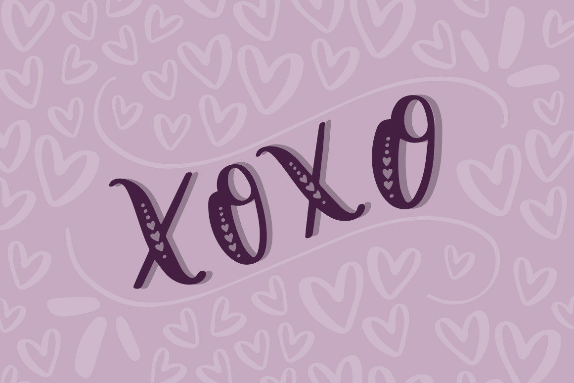 Lovebug Hand Lettered Font Trio, Valentine's Heart Font example image 4