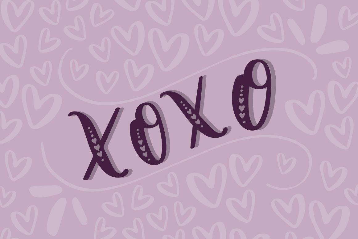 Lovebug Hand Lettered Font Trio, Valentine's Heart Font example image 4