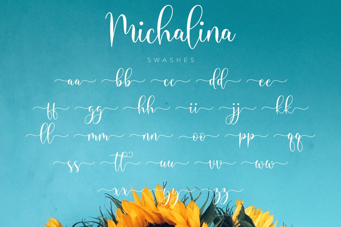 Michalina Script example image 12