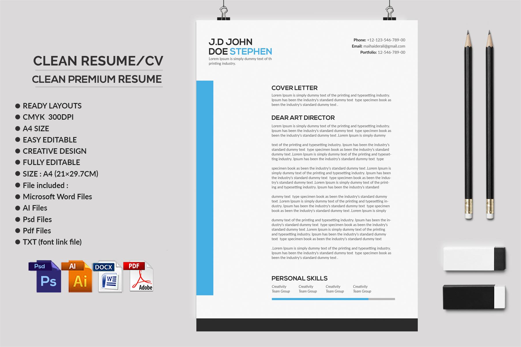 Clean Resume/CV  example image 2