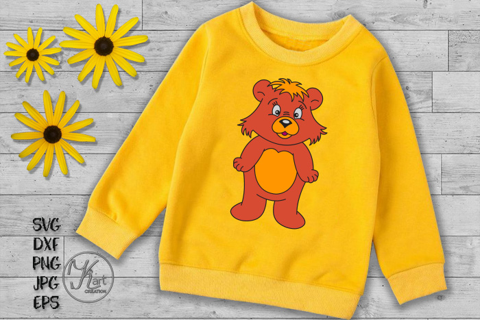 bear svg, cute bear svg, cute bear clipart, bear boy girl example image 2