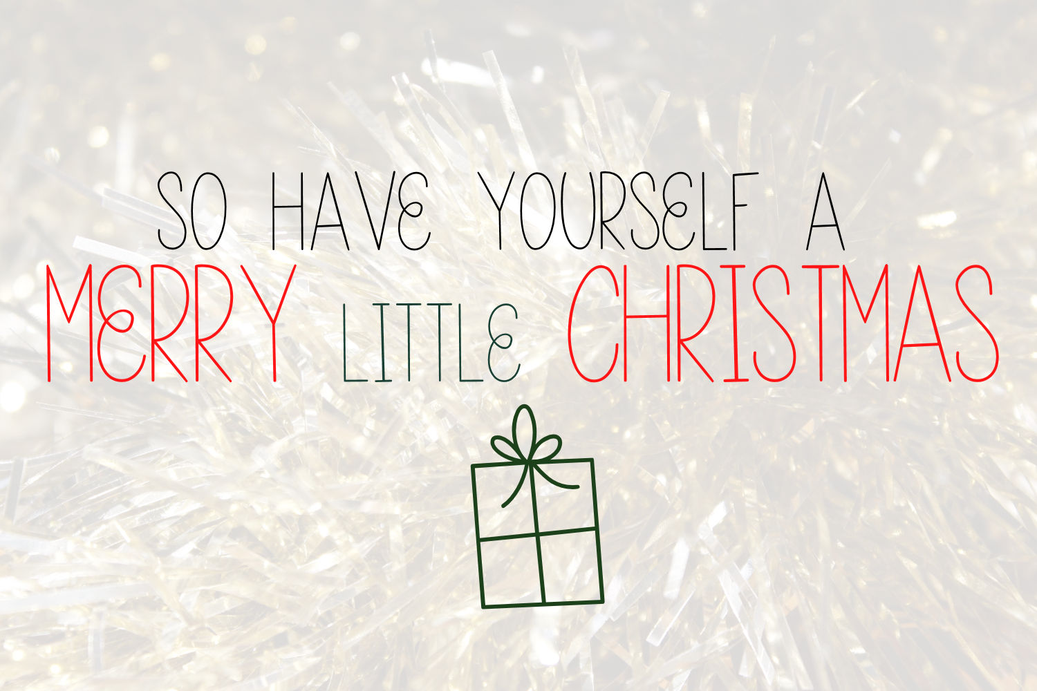 Tinsel Tangled, A Christmas Font With Fun Doodles example image 2