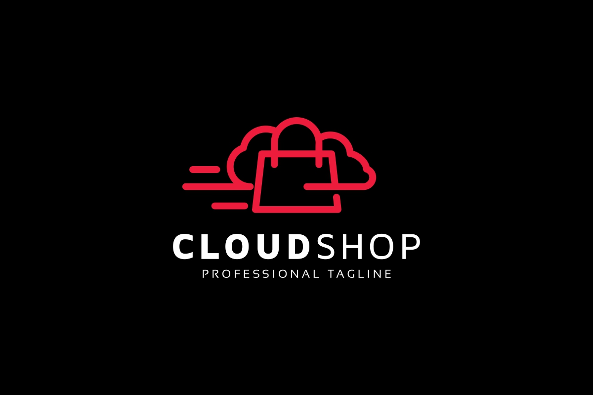 Cloud Shop Logo example image 2