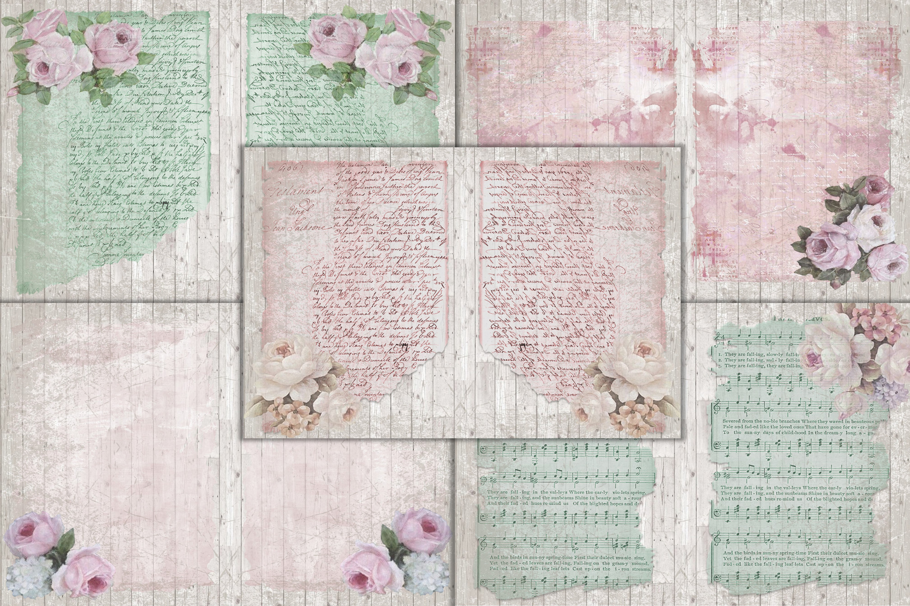 Mega Scrapbooking Kit with free backgrounds example image 2