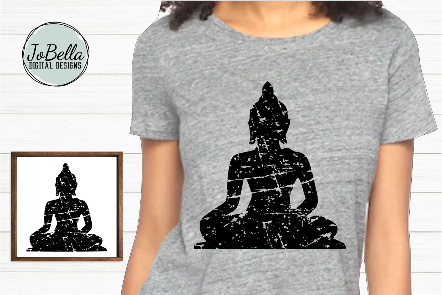 Distressed Buddha SVG, Sublimation Design and Printable example image 1