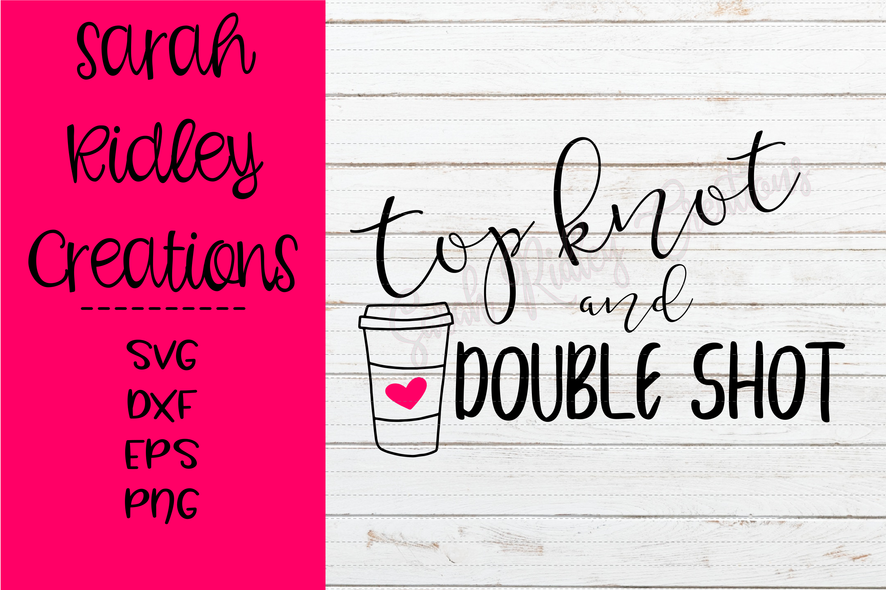 Top Knot And Double Shot 167727 Svgs Design Bundles