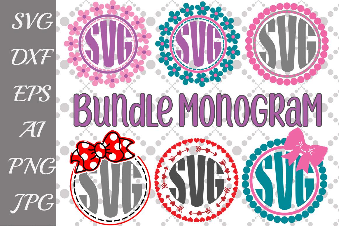 Monogram Bundle Svg example image 1