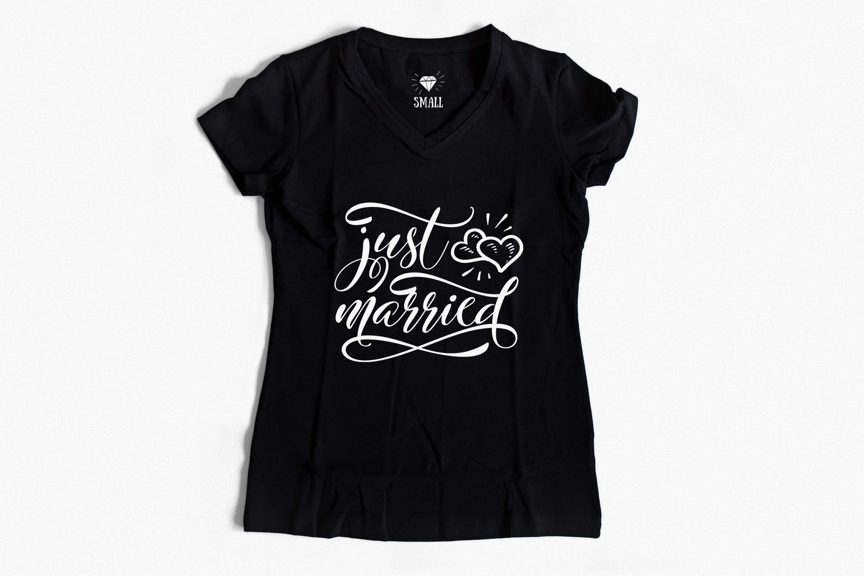 Just married SVG PNG EPS DXF, Wedding svg design example image 3