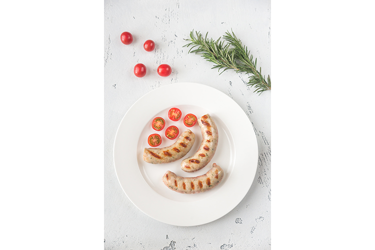 Grilled sausages with cherry tomatoes example image 1
