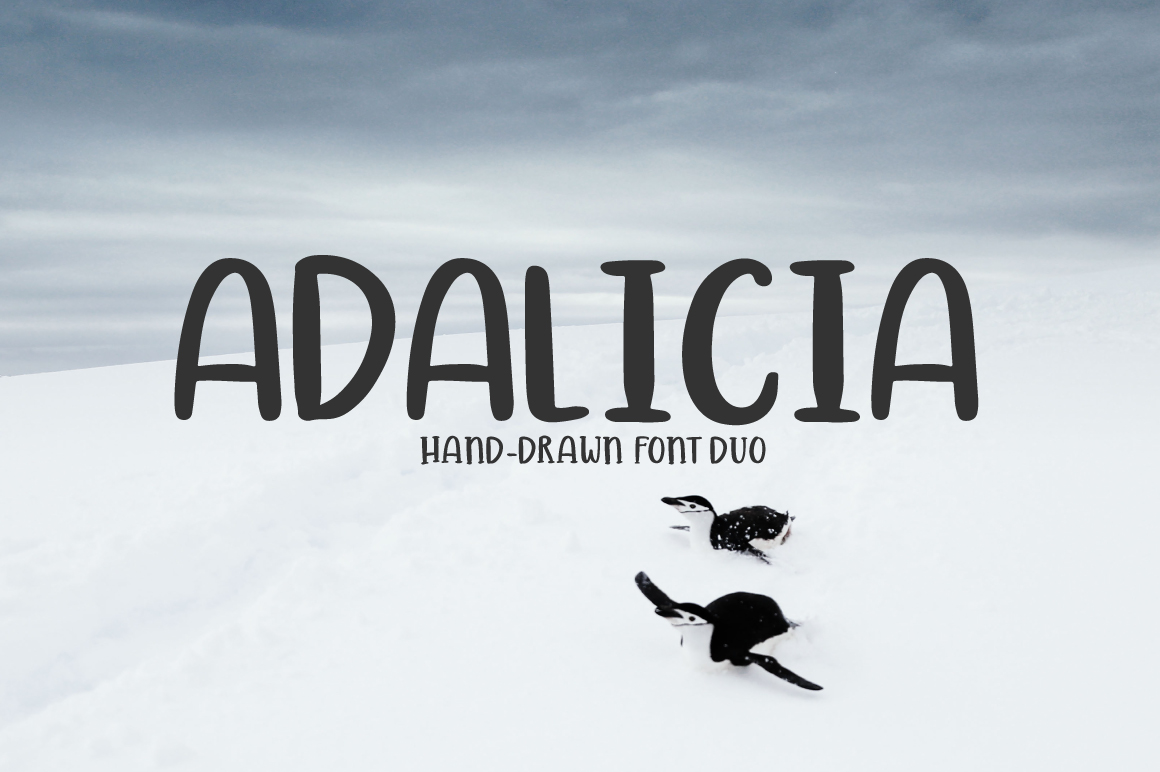 ADALICIA | HAND DRAWN FONT DUO example image 1