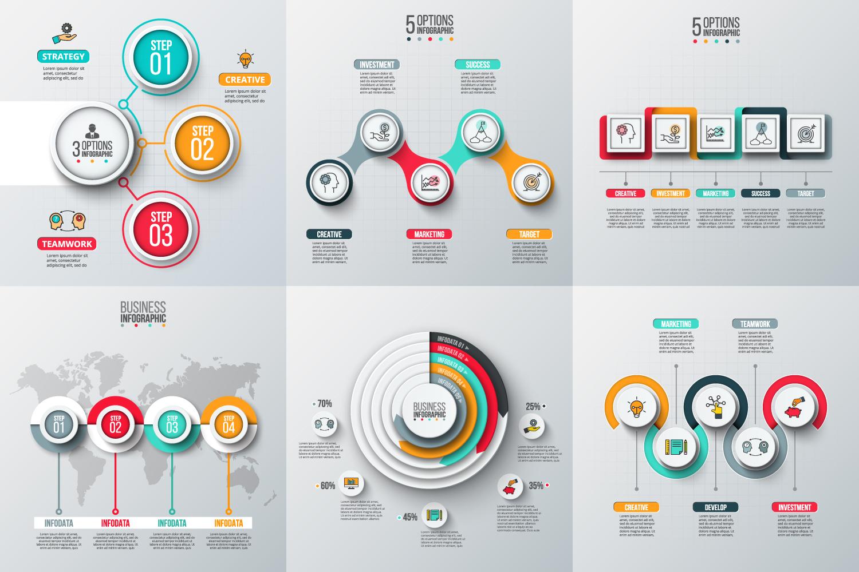 Infographic elements bundle v.02 example image 7