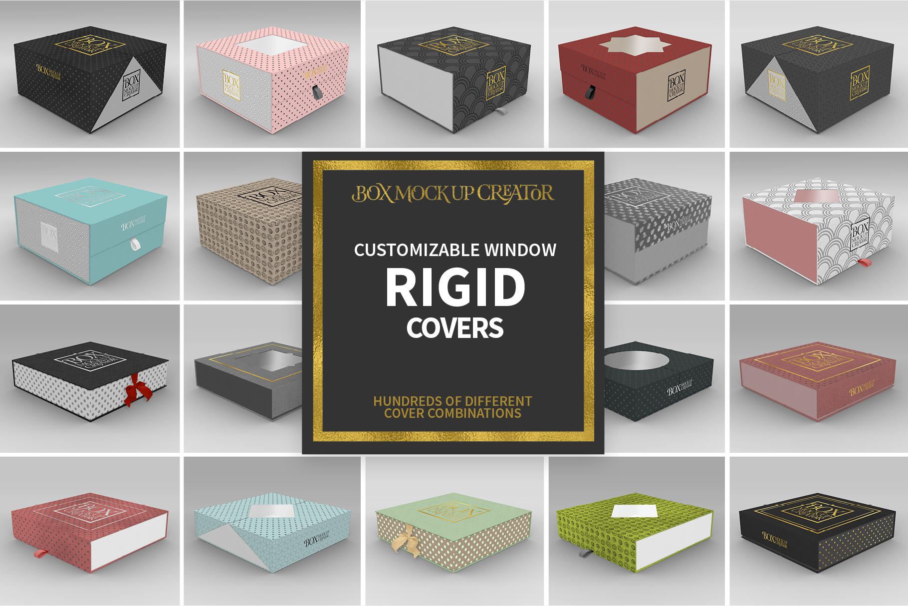 Square Box Packaging Mockup Creator example image 9