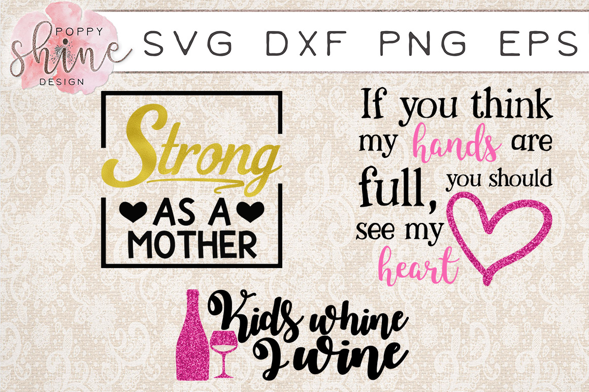 Tired Mama Bundle of 15 SVG PNG EPS DXF Cutting Files example image 5