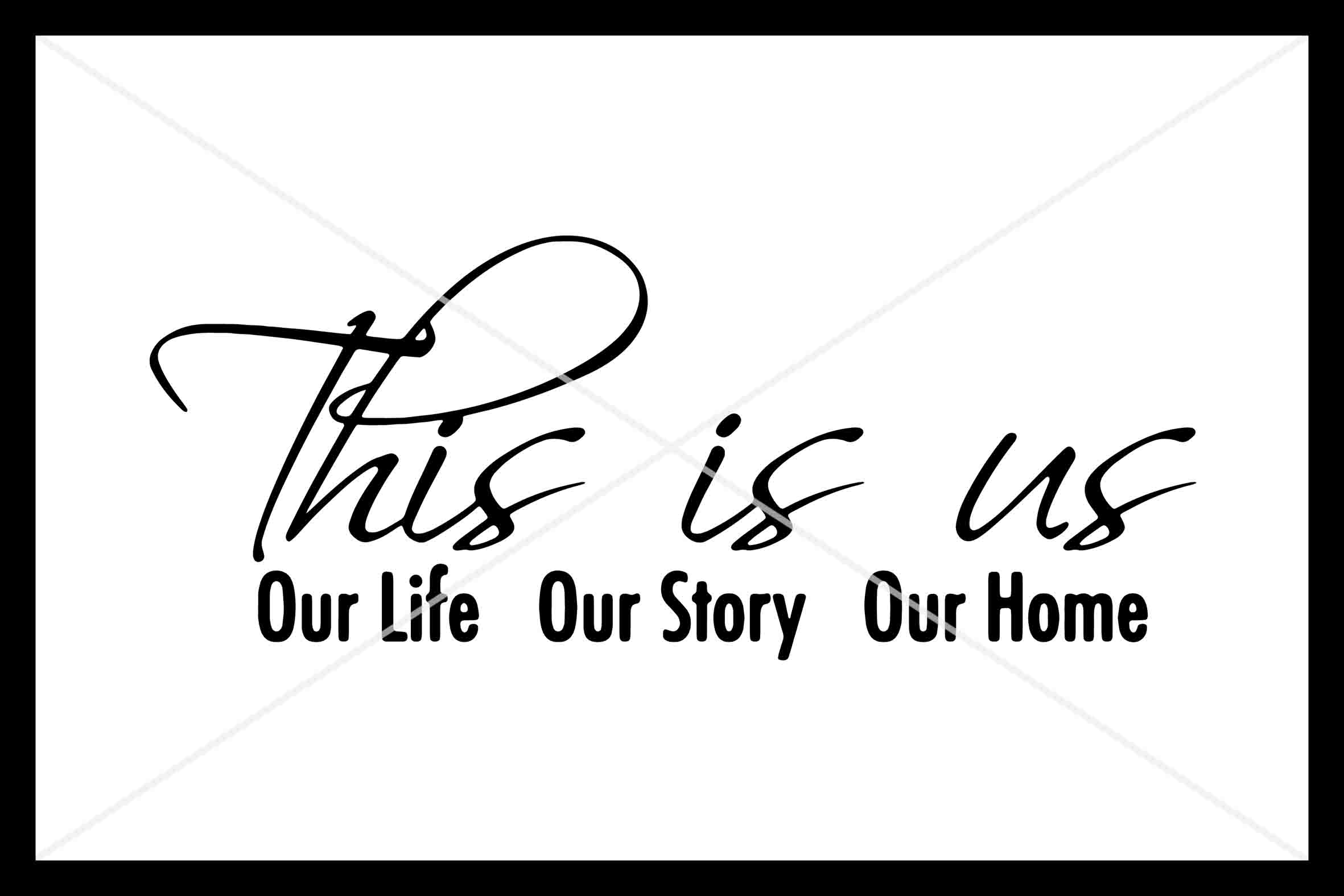 This is us, SVG, Love, Family, Home, Silhouette Cameo, Cut example image 1