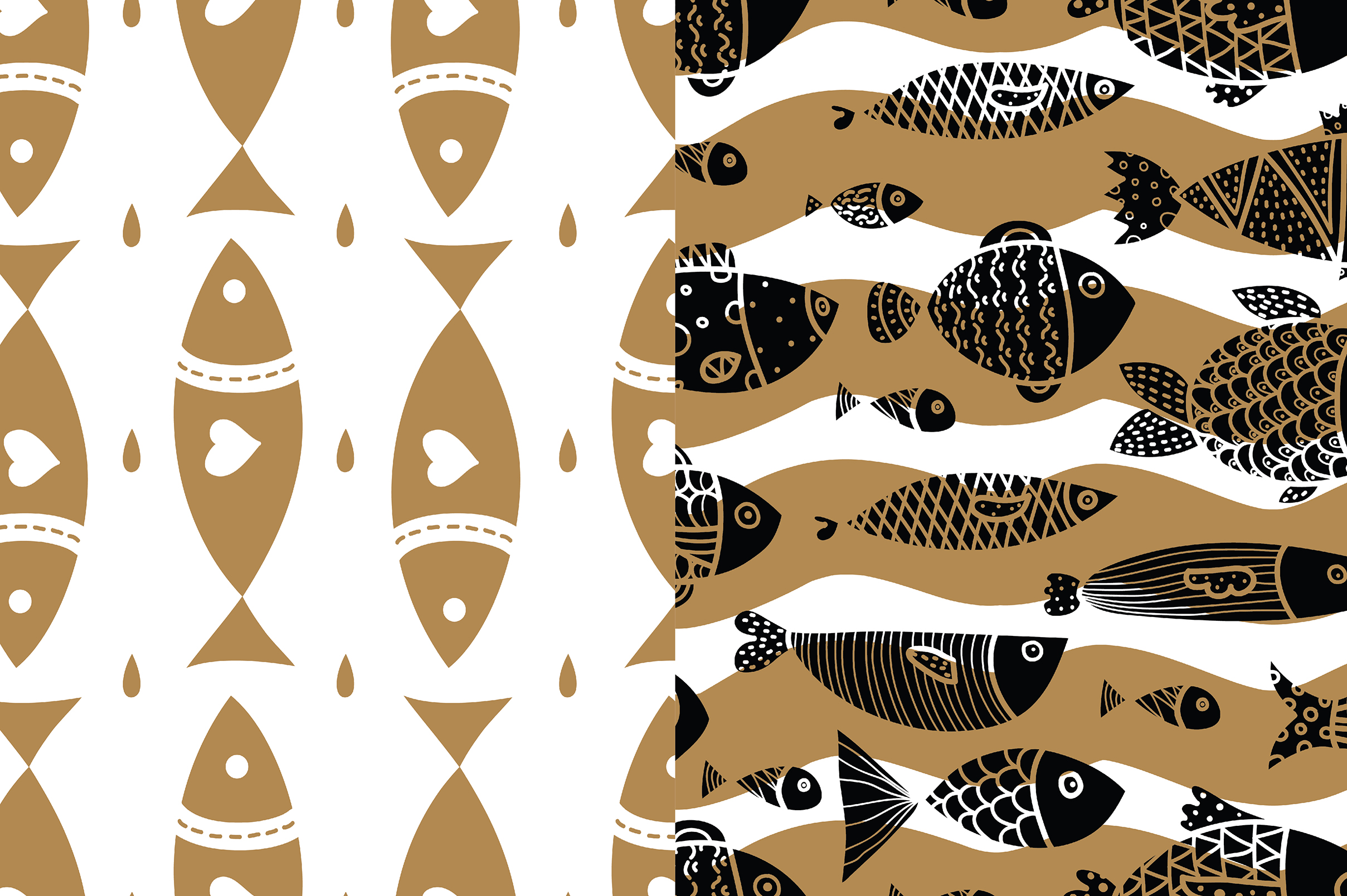 Gold and fish. example image 5