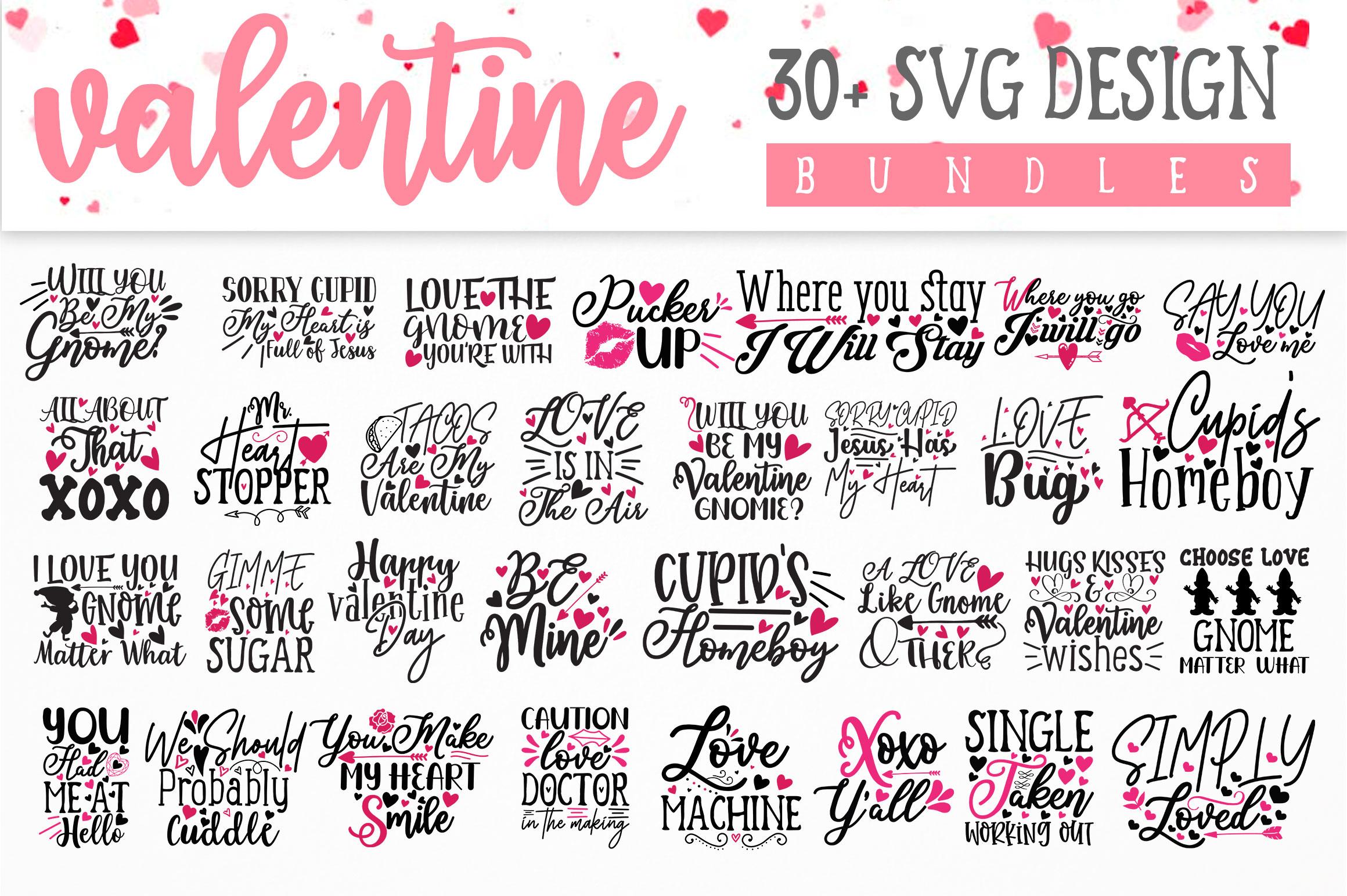 Valentine SVG Design Bundle Vol 1 example image 7