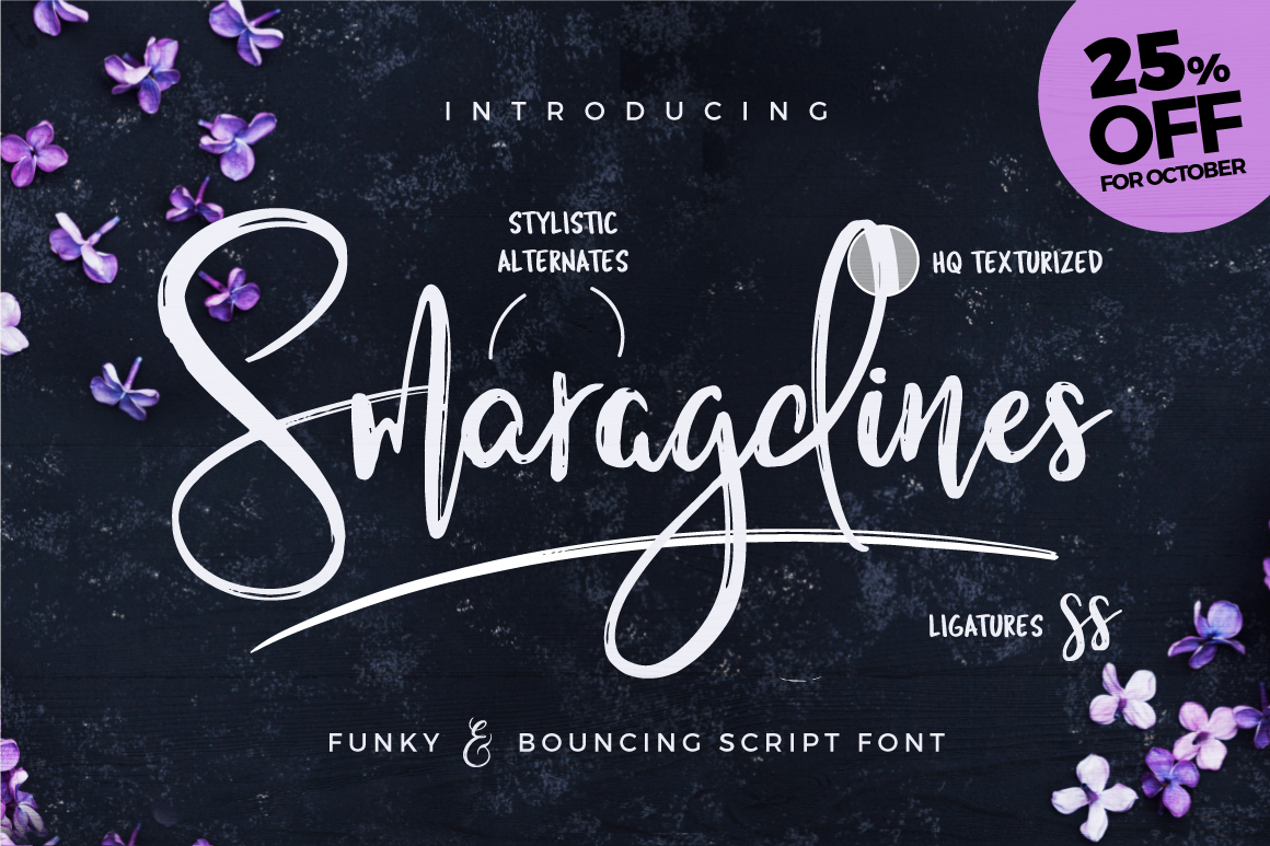 Smaragdines Font + Extras example image 9