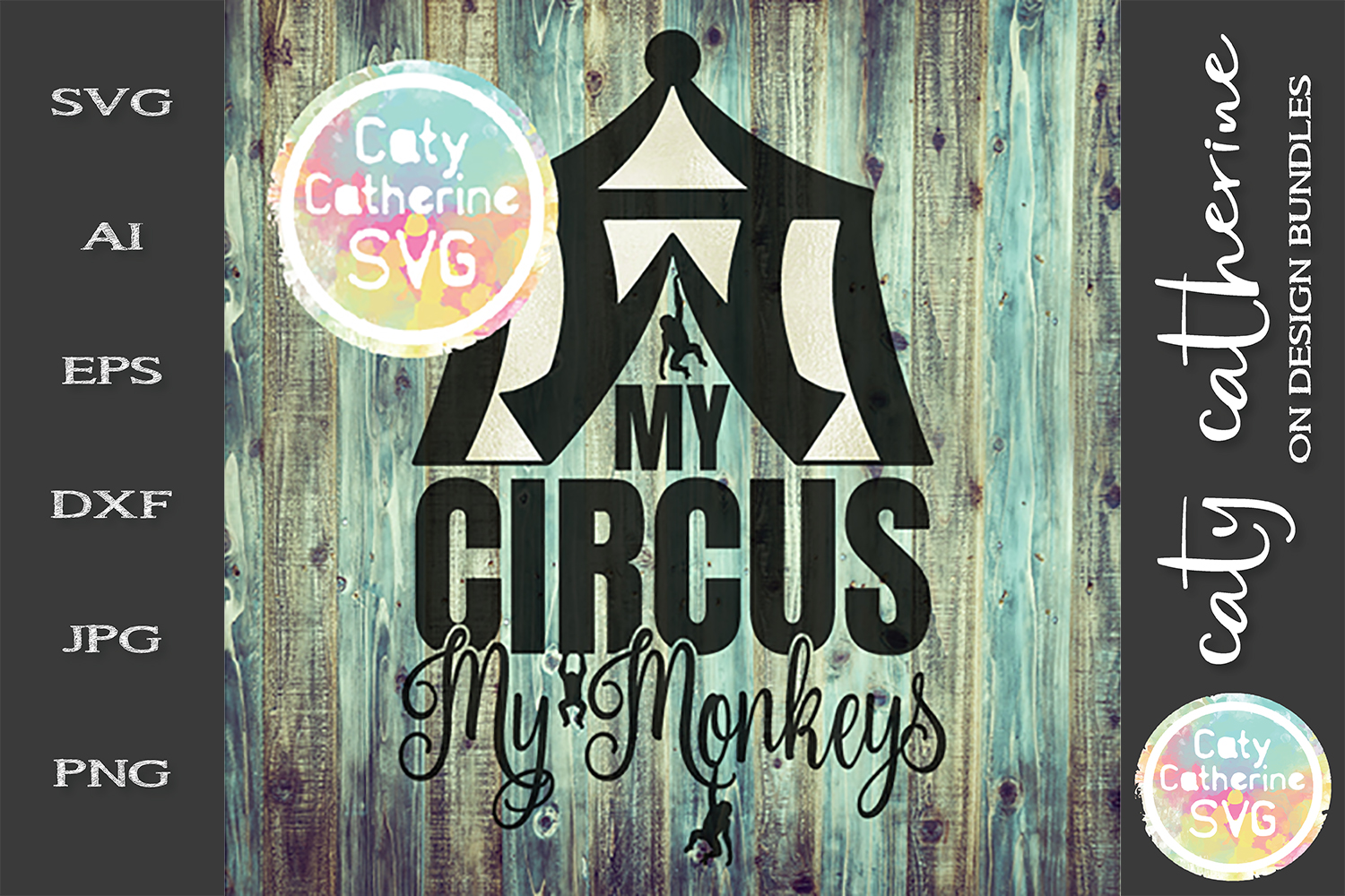 My Circus My Monkeys SVG Cut File example image 1