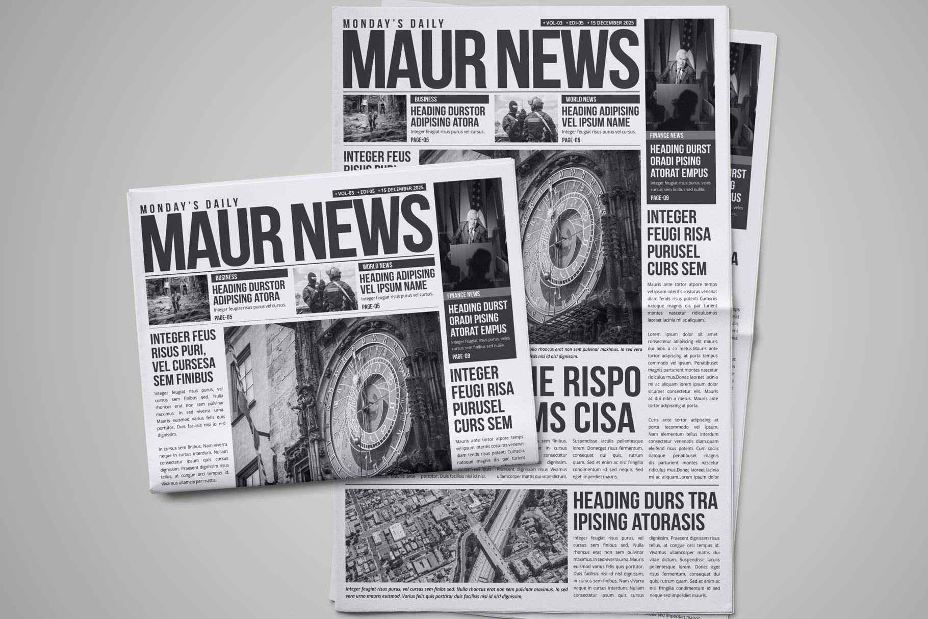 Newspaper Design Bundle - 3 in One example image 2