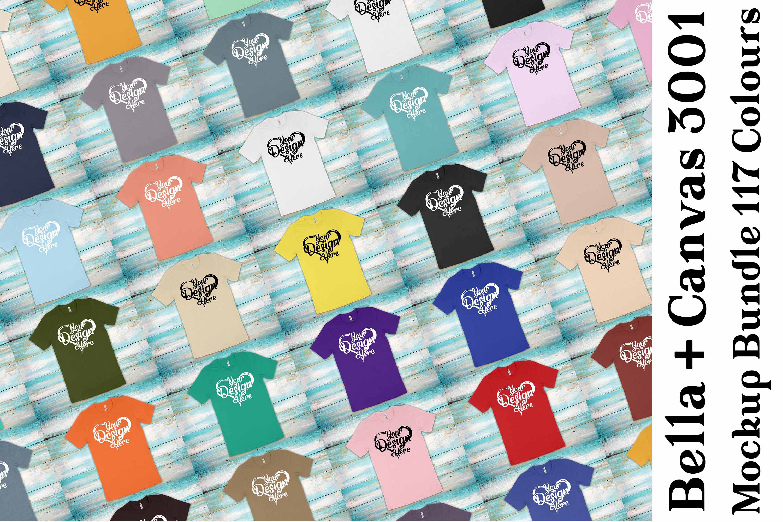 Bella Canvas 3001 Mockup Bundle T-Shirt Mock Ups 062 example image 1