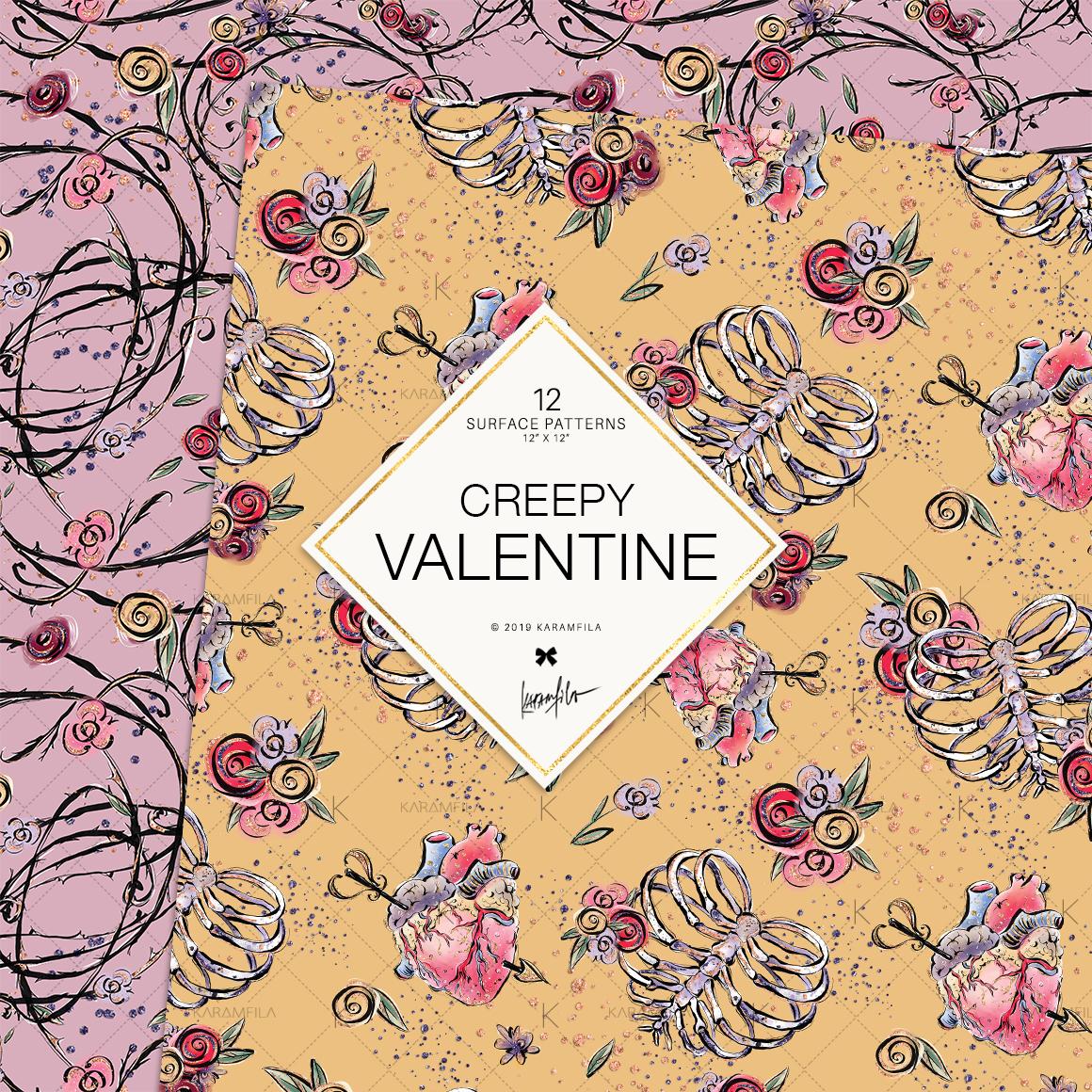 Creepy Valentine's Day Patterns example image 3