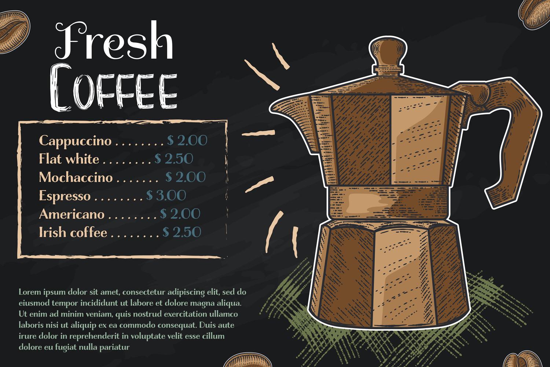 15 designs - Coffee restaurant brochure vector, coffee shop example image 14