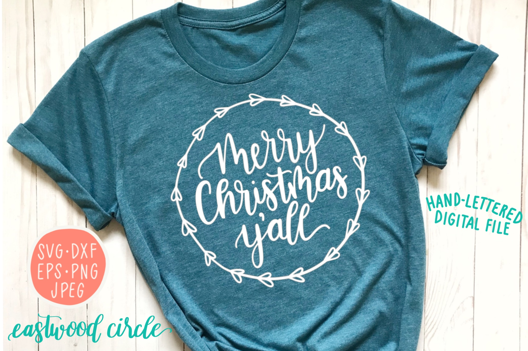Christmas SVG Bundle - Hand Lettered SVG Files for Crafters example image 3