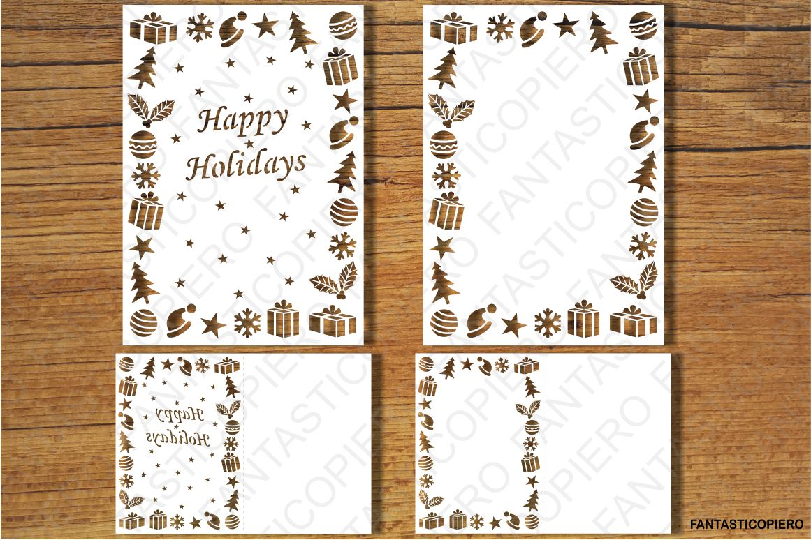 Merry Christmas, Happy New Year SVG files. example image 2