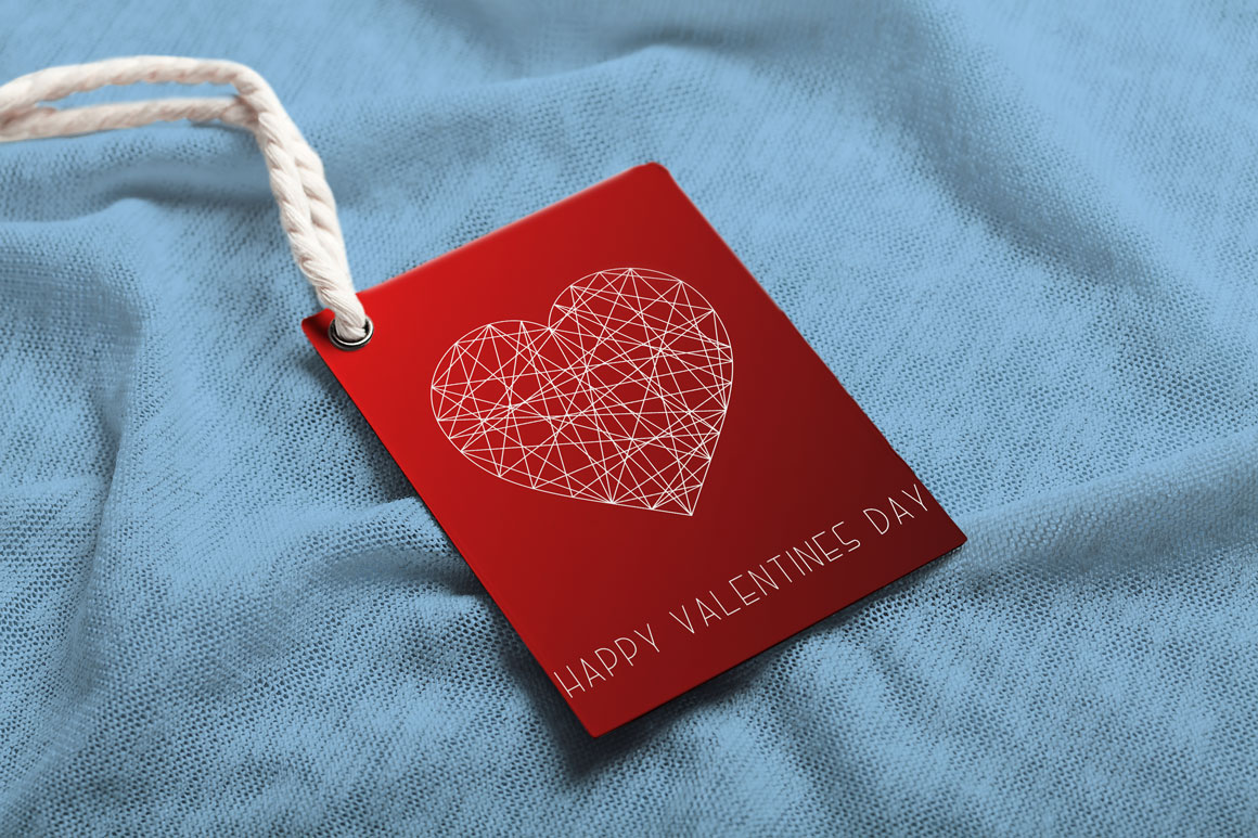 Hand drawn Valentine's love cards example image 4