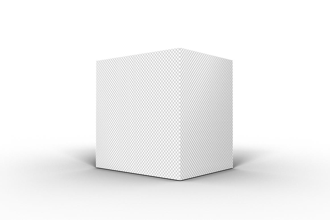 5.5.4 Simple 3D Box Mockup PSD example image 2
