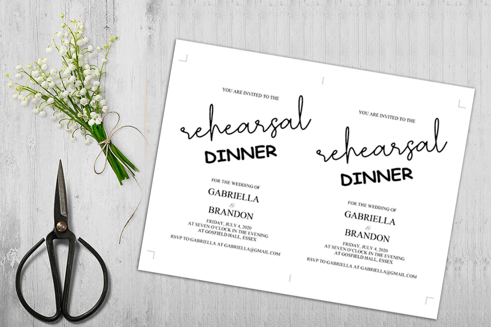 Rustic Rehearsal Dinner Invitation, Invitation Template example image 5