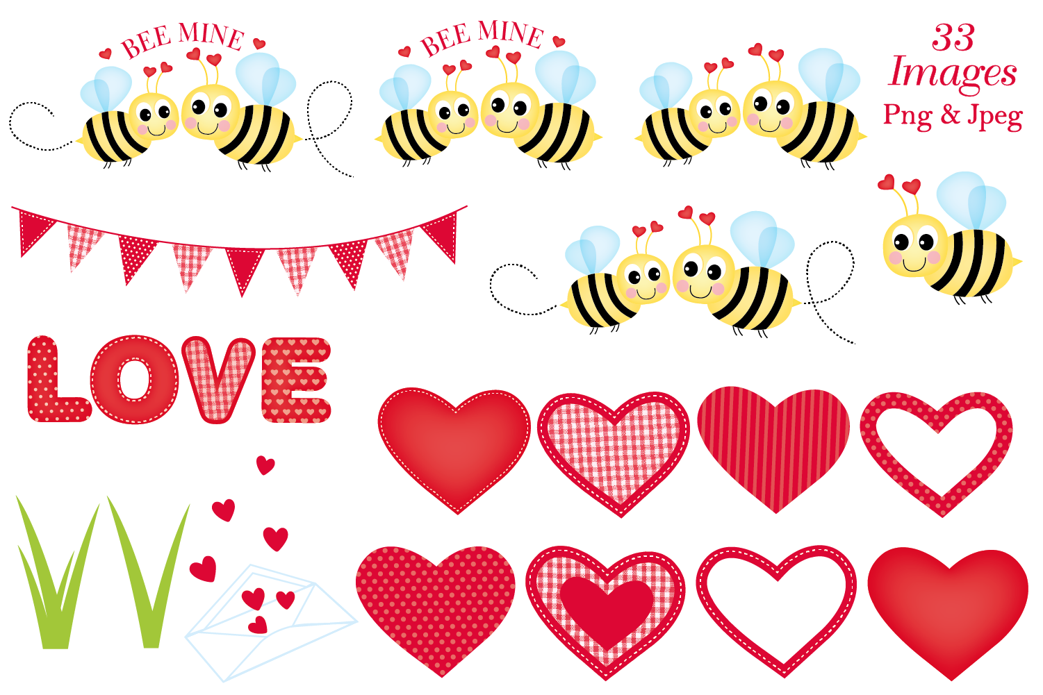 Valentine clipart, Valentine bear graphics & illustrations example image 3