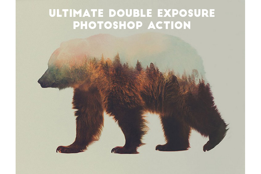 Double Exposure Photoshop Action Pro example image 7