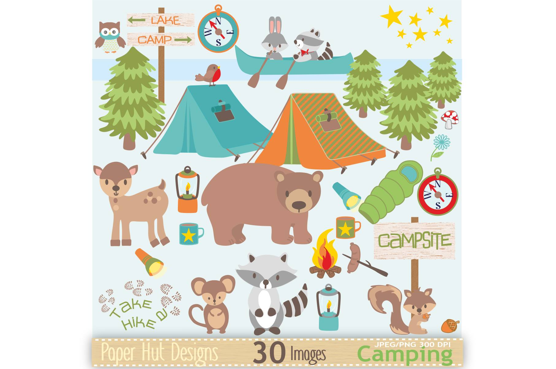 Boys Camping Clipart example image 1