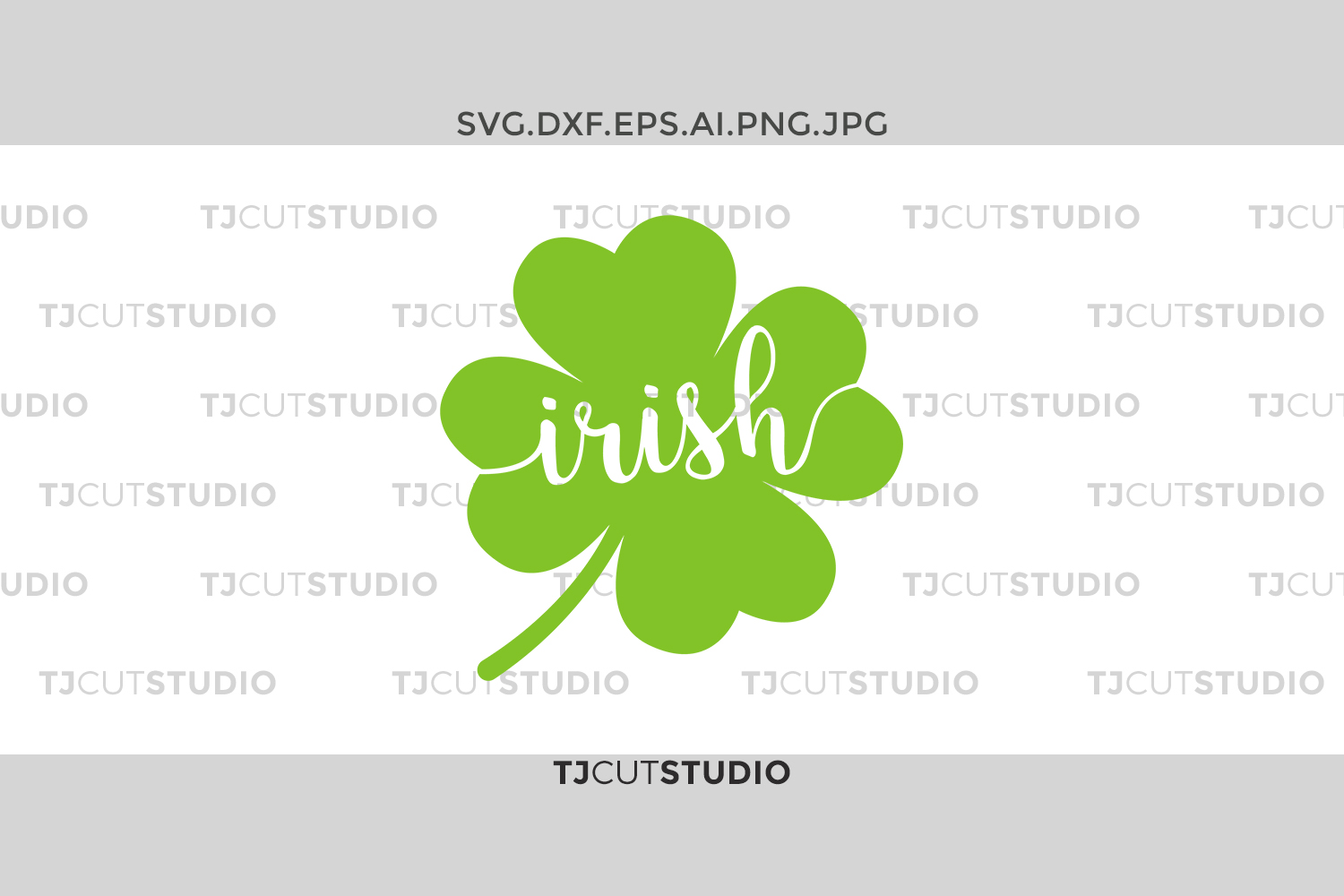 Irish svg, shamrock svg, four leaf clover svg, st patricks day svg, st patricks day svg, Svg Files for Silhouette Cameo or Cricut . example image 1
