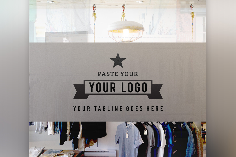 Store Front Vinyl Logo Mockup  example image 4