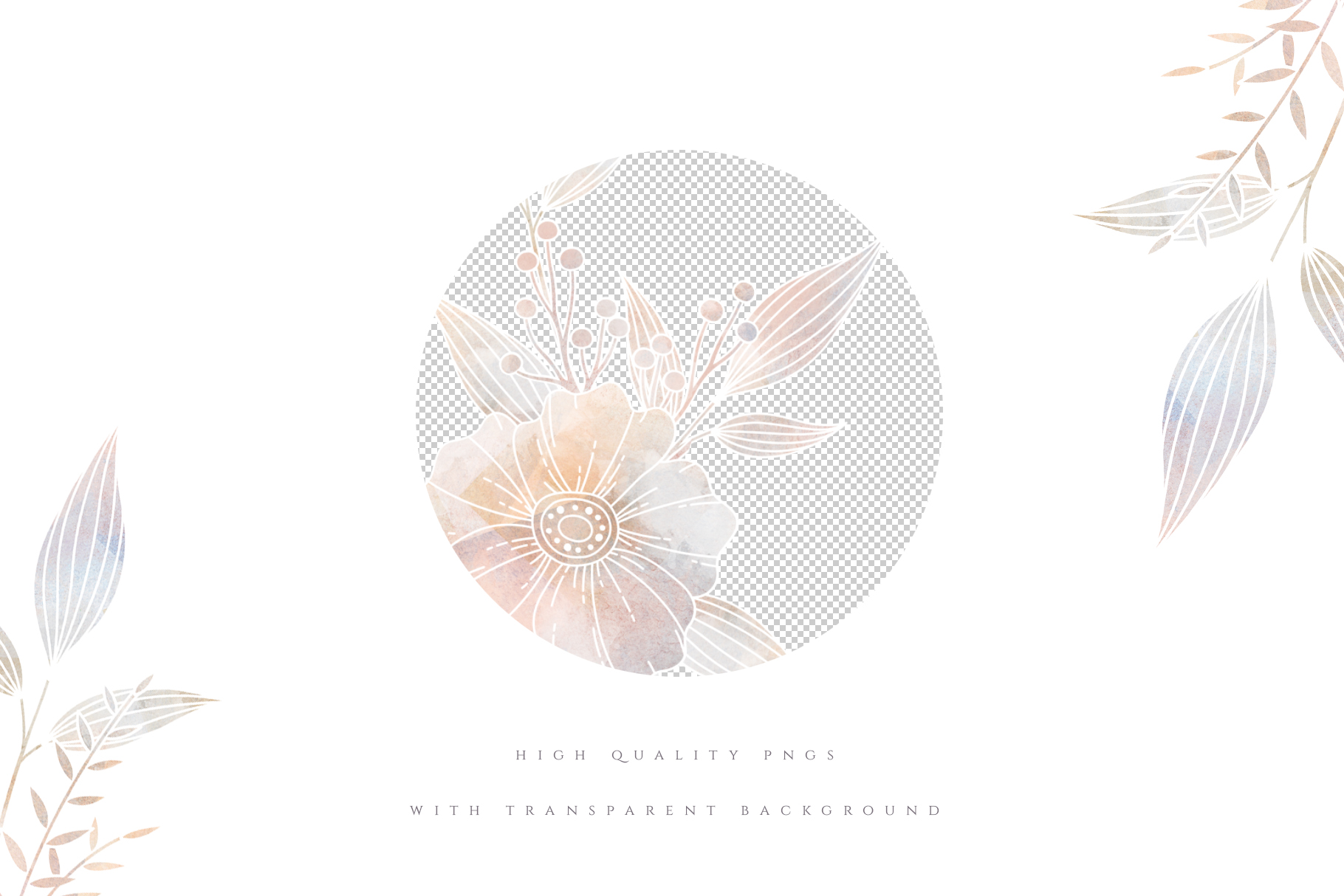 MISTY Dusty Floral Graphics and Monograms example image 3