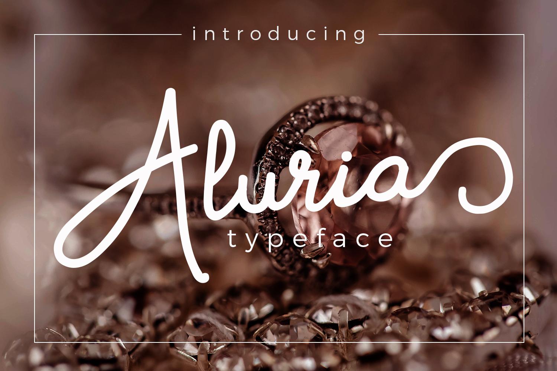 Aluria - Signature Font example image 1