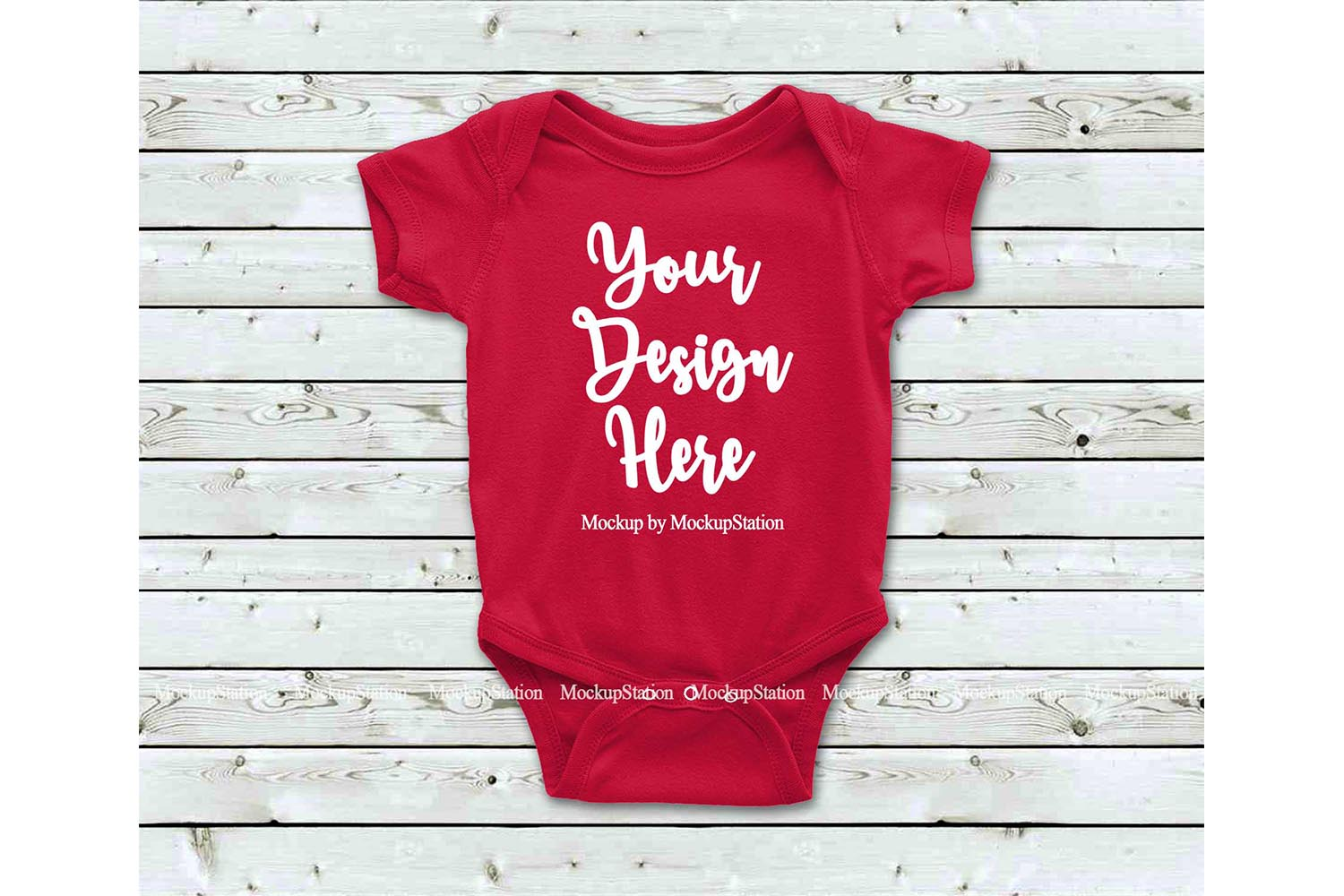 Basic Baby Bodysuit Mockup Bundle, Toddler Newborn One Piece example image 6