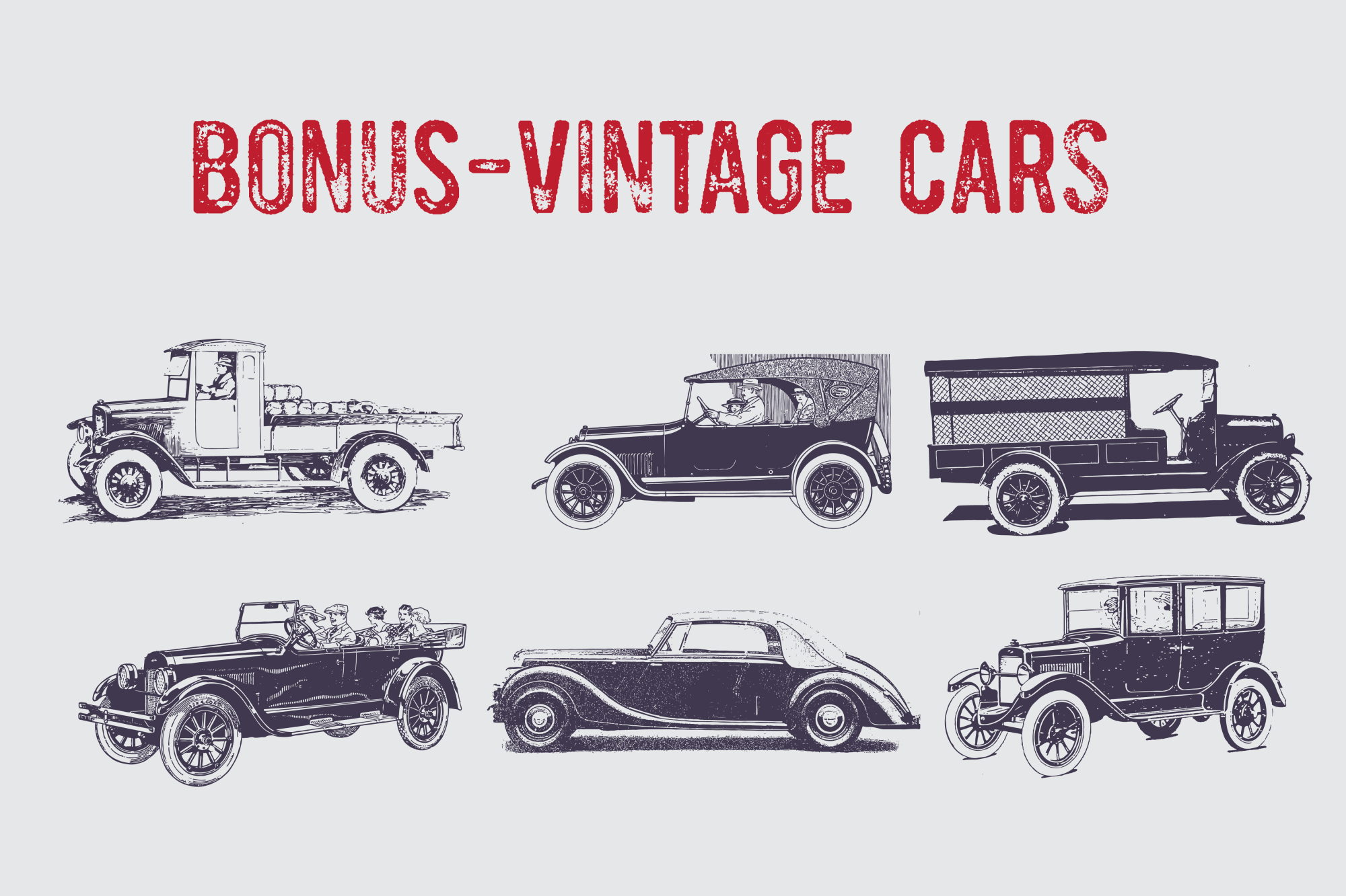 Vintage Pack-17 fonts and elements example image 8