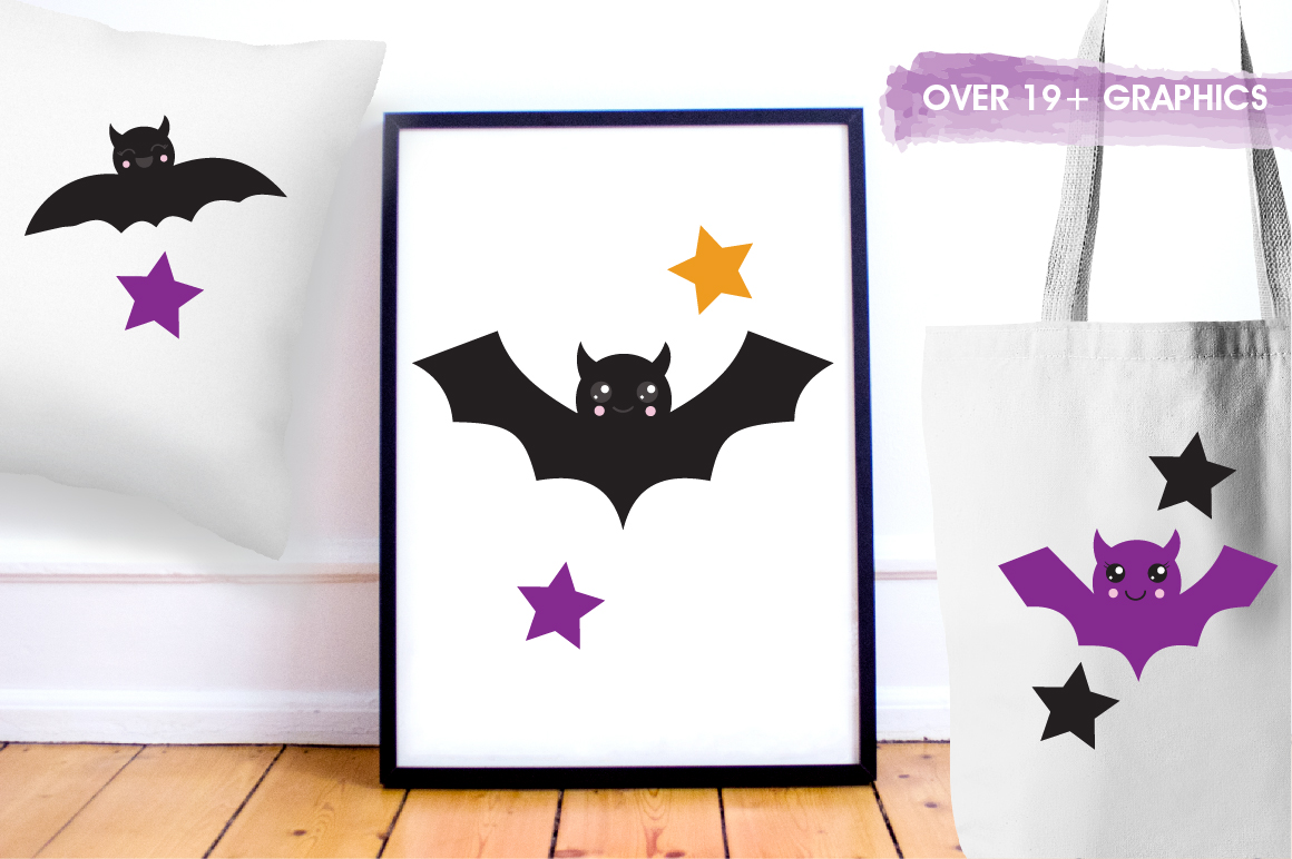Halloween Bats graphics and illustrations example image 5