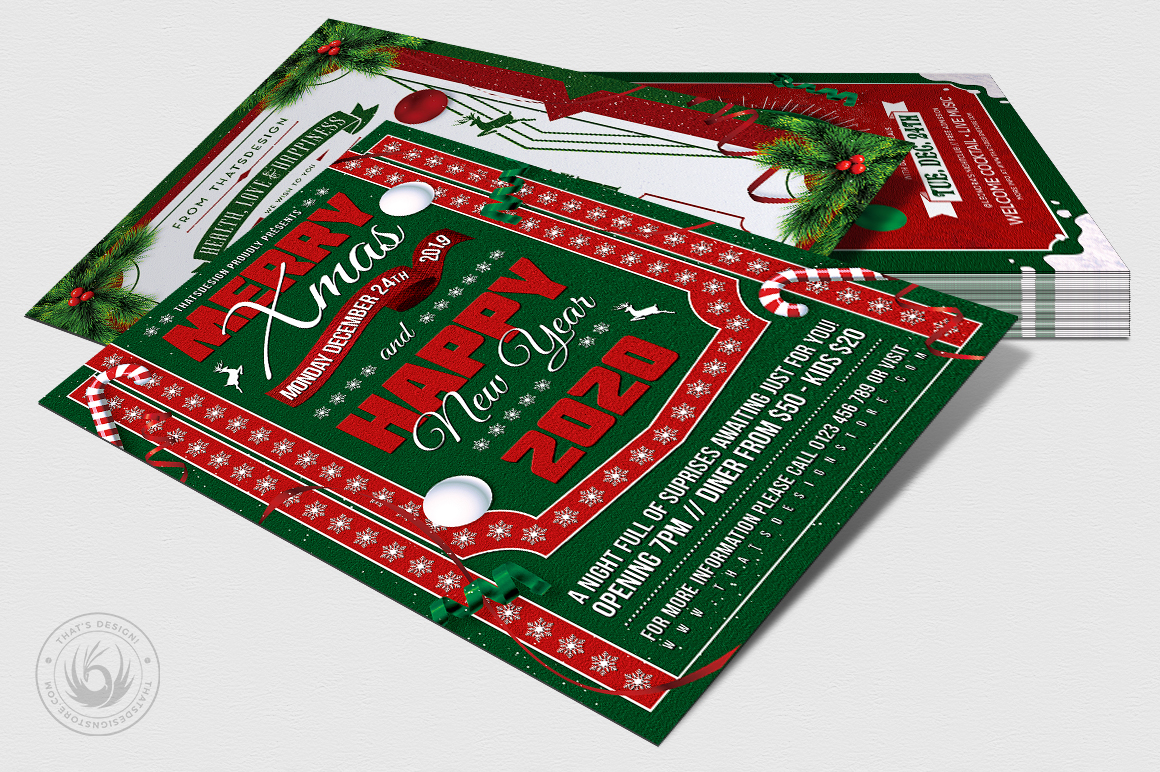 Christmas Eve Flyer Bundle example image 7