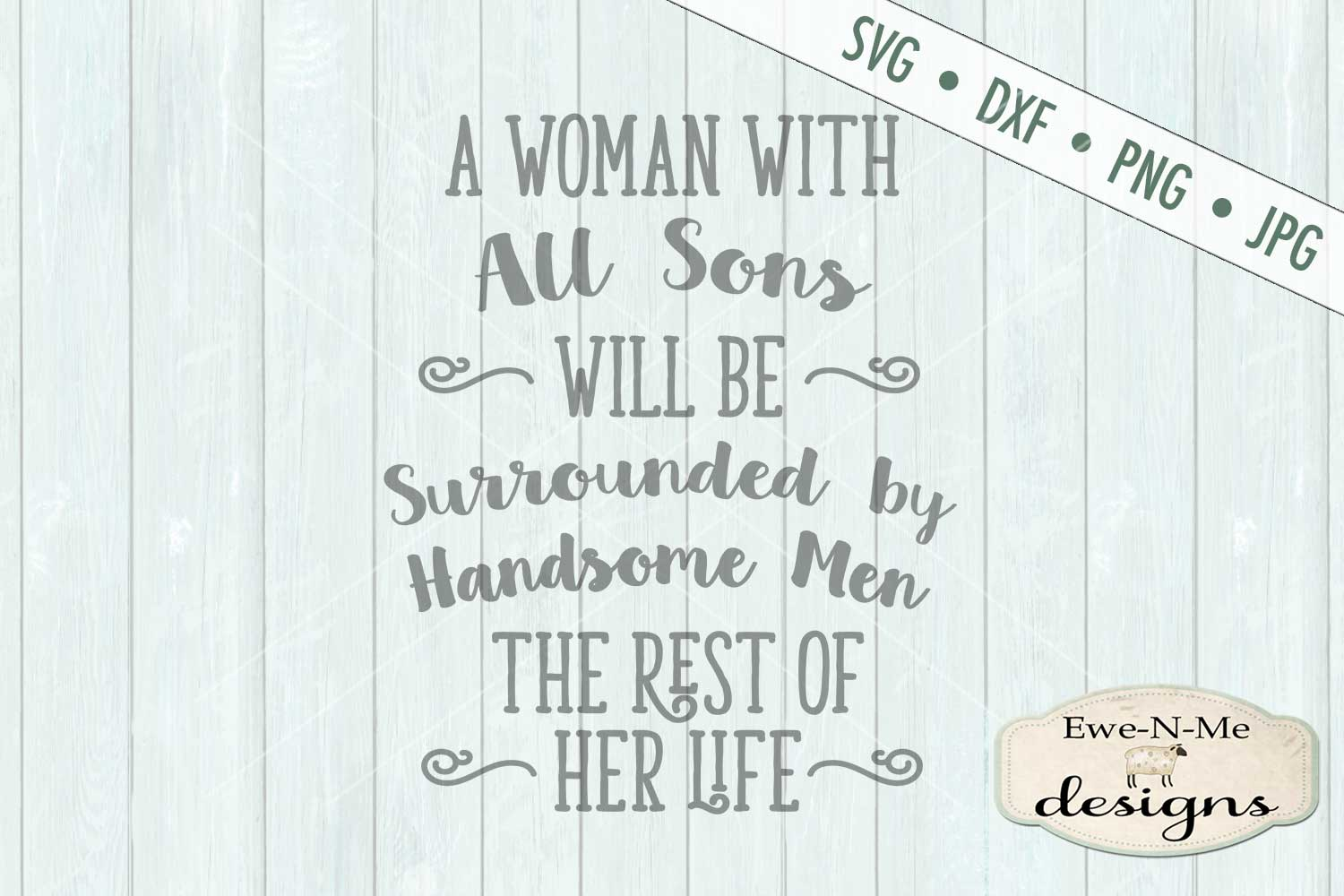 Woman with All Sons SVG DXF Cut File example image 2