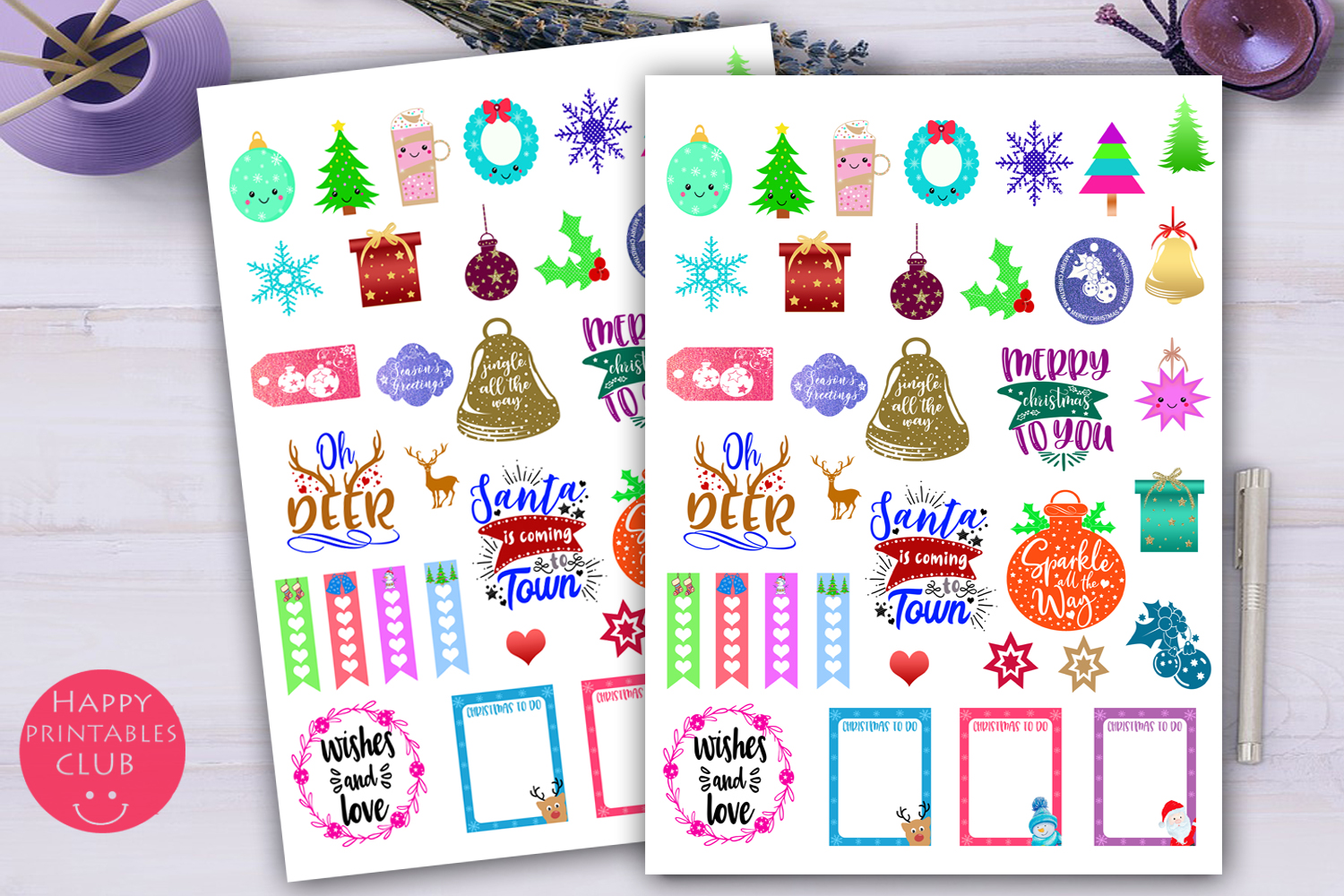 Christmas Planner Stickers-Holiday Planner Stickers example image 2