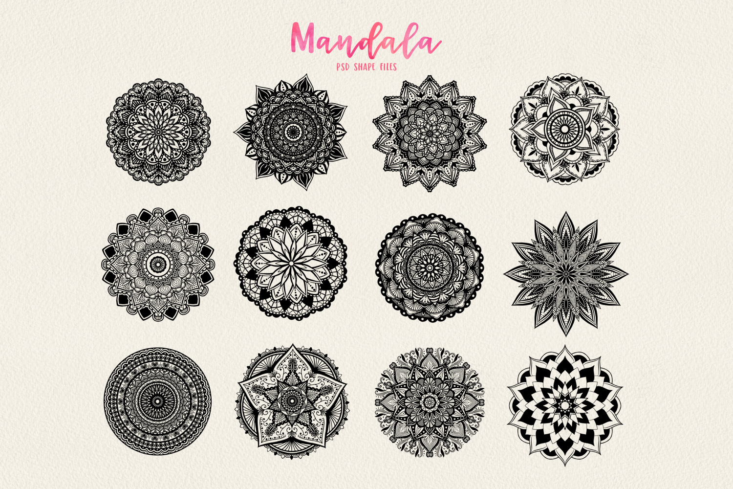 Mandala Vectors & Bonus Watercolor Styles example image 2