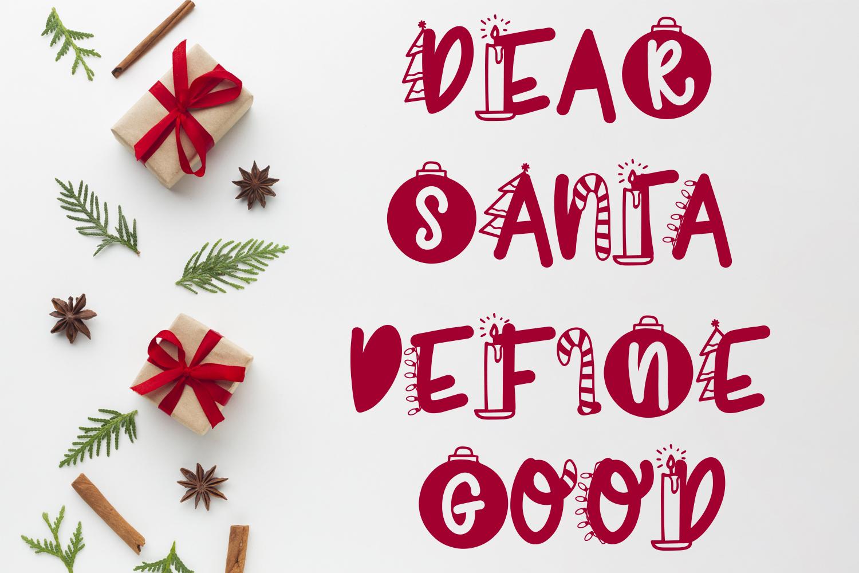 Joyeux Noel Font - Christmas Doodle Font In 6 Designs example image 4