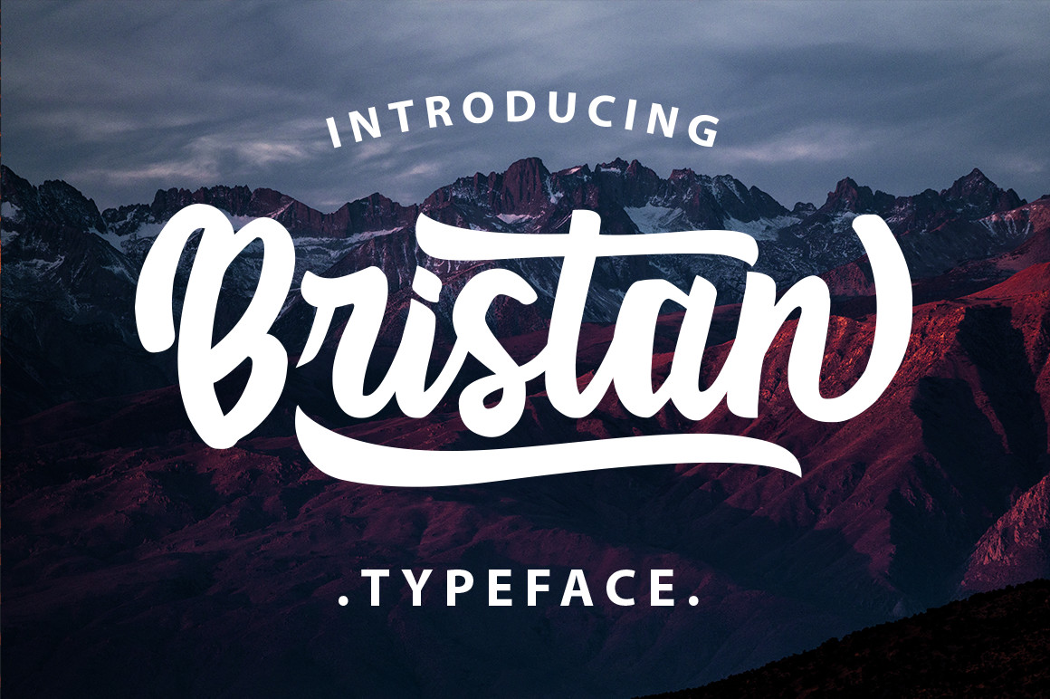 Bristan Typeface example image 1