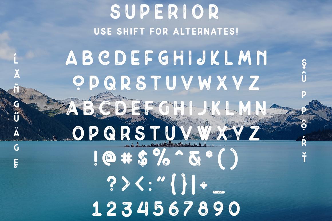 Superior -  Font & Logo Bundle example image 6