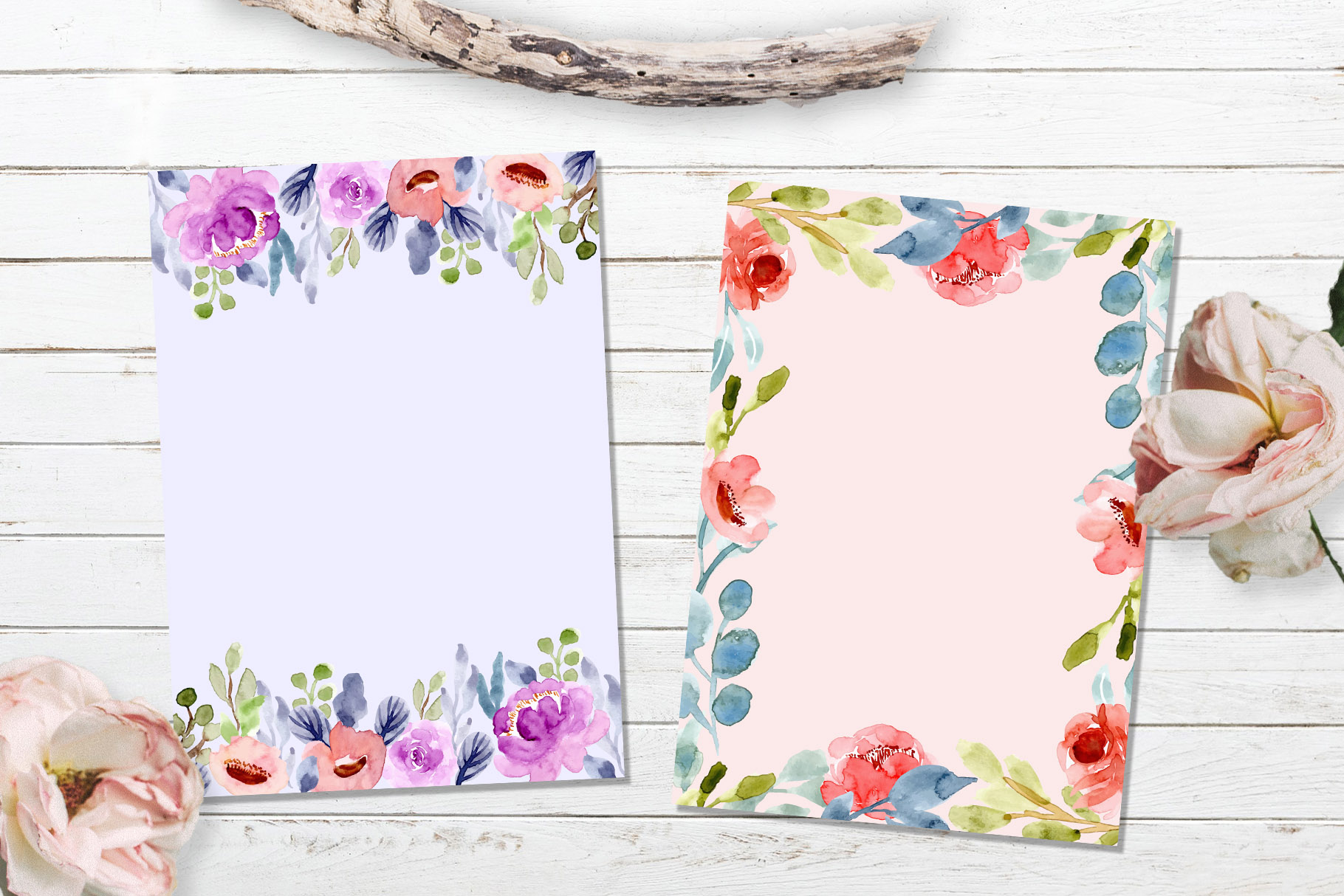 Floral Invitation Backgrounds Vol.3 example image 3